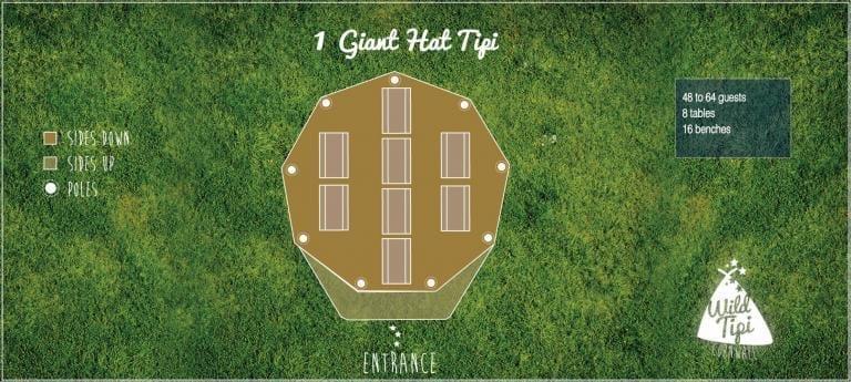 Wild Tipi Floor plan - 1 Giant Hat Tipi